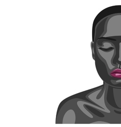 African fashion beauty woman vector