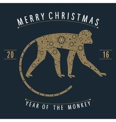ornament golden monkey vector image