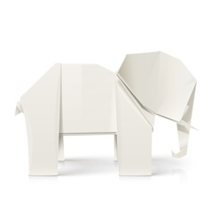 Elephant origami paper toy vector