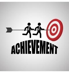 Flat about achievement design vector