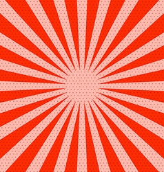 Retro red background with rays vector
