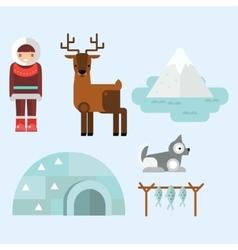 Alaska symbols vector image vector image