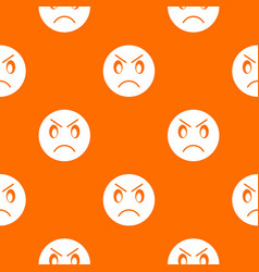 Annoyed emotpattern seamless vector