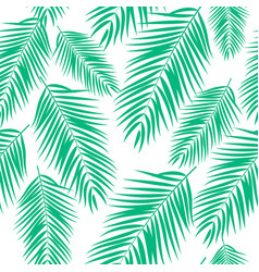 Beautifil palm tree leaf silhouette seamles vector
