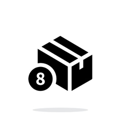 Box with number simple icon on white background vector image vector image
