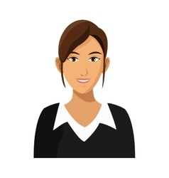 Businesswoman professional work career vector