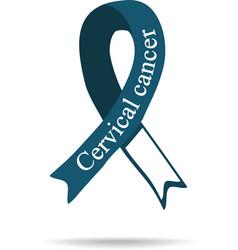 Cancer Ribbon Cervical cancer International Day vector image vector image