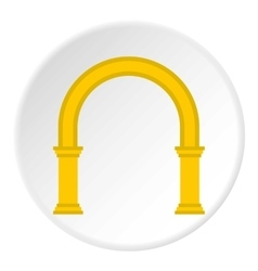 Classic arch icon flat style vector image
