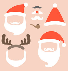 collection of santa hat vector image vector image