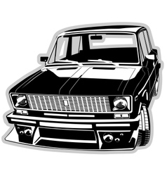 custom car vector image vector image