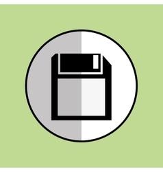 Diskette icon design vector