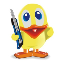 Duck with knife vector