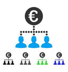 Euro payment clients flat icon vector