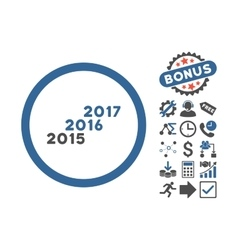 From 2016 To 2017 Years Flat Icon With vector image vector image
