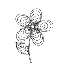 Geranium flower decoration sketch vector