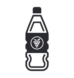 grapes bottle icon vector image vector image
