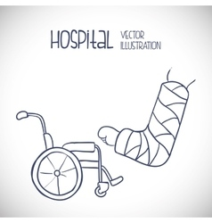 Hospital related icons vector image vector image