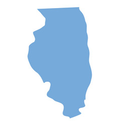illinois state map vector image
