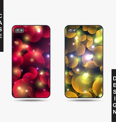 Isolated templates phone with christmas design vector