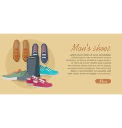 Men s shoes stylish footwear for man vector