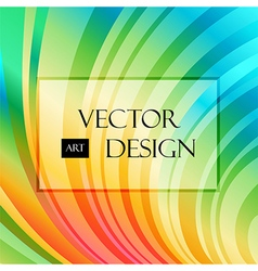 Multicolored striped curved background vector