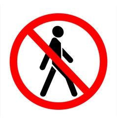 No trespassing vector
