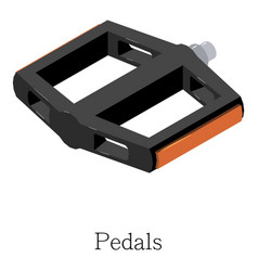 pedal bike icon isometric 3d style vector image vector image