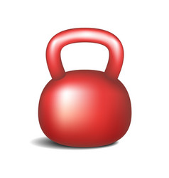 retro dumbbell in red design vector image vector image