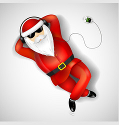santa claus lying on the floor vector image