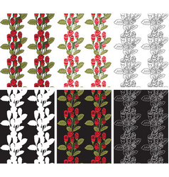 Seamless pattern red roses vector