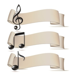 Set of banners with music icons vector image vector image