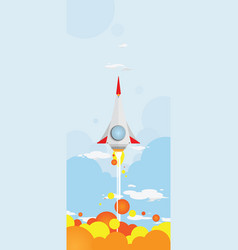 shooting rocket vector image