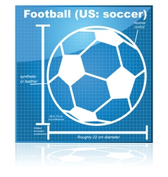 Soccer blueprint vector image vector image