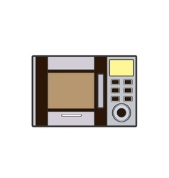 Symbol of microwave color line art vector image vector image