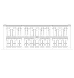 The facade of the building vector image vector image