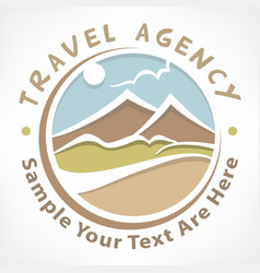 Travel logo pastel vector
