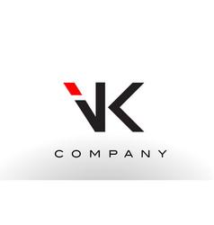 vk logo letter design vector image