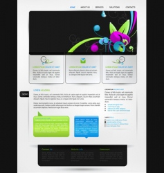 Web page design vector
