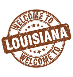 Welcome to louisiana vector