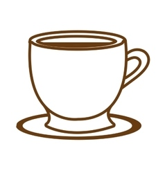 white coffee cup graphic vector image vector image