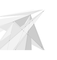 White grey abstract technology low poly vector image vector image