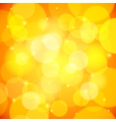 Yellow bokeh effect abstract background vector