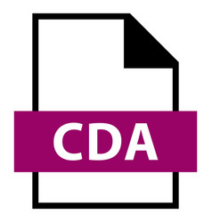 file name extension cda type vector image