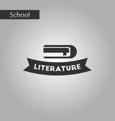 Black and white style icon literature lesson vector
