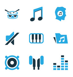 Music colored icons set collection of speaker vector