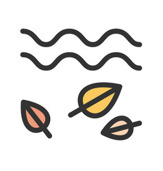 leaves in wind vector image