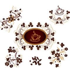 Coffee ornaments vector image