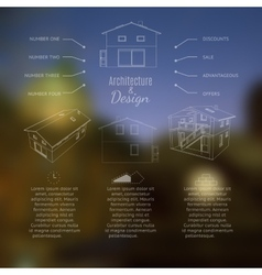 Architecture and design lettering abstracr house vector