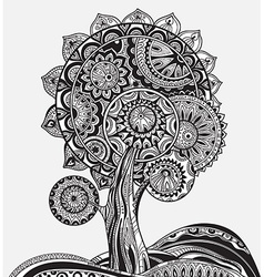 Abstract ornamental magic tree with a lot of vector