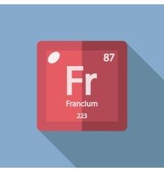 Chemical element francium flat vector
